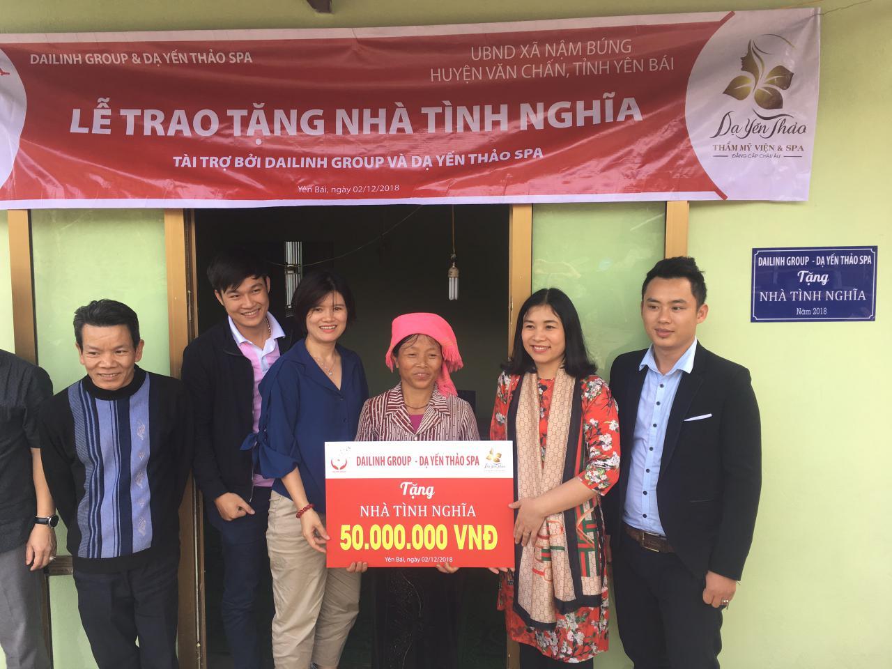 DaiLinh Group bàn giao nhà tình nghĩa cho hộ nghèo tại tỉnh Yên Bái