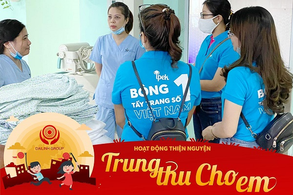 """DaiLinh Group – Chuyến thiện nguyện """"Trung Thu Cho Em 2020"""" tại bệnh viện nhi TW 2"""